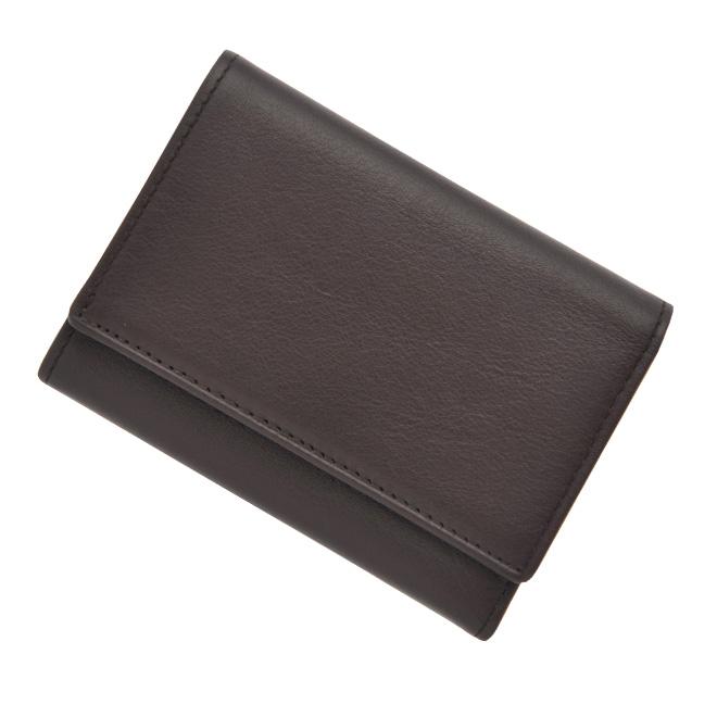 極小財布 ボックスカーフ(ブラウン)ベーシック型小銭入れ 仔牛革 BECKER(ベッカー)ドイツ製