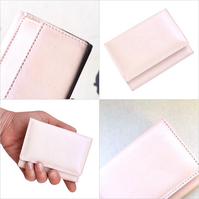 極小財布シープスキンメタリック シャイニーオーロラピンク BECKER(ベッカー)日本製