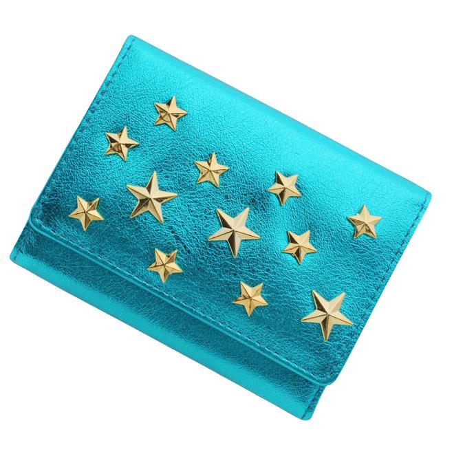 極小財布 メタリック×星スタッズ ターコイズ ベーシック型小銭入れ BECKER(ベッカー)日本製