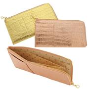 極薄長財布 クロコ型押し CAPITO(カピート) 日本製