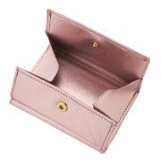 極小財布クロコ型押し ピンク