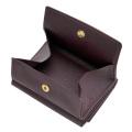 極小財布 ボックスカーフ(ワイン)ボックス型小銭入れ 仔牛革 BECKER(ベッカー)ドイツ製