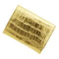 極小財布 MISS別注モデル「メタリック」型押しゴールド BECKER(ベッカー)日本製