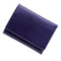 極小財布 エナメル(パープル)ベーシック型小銭入れ BECKER(ベッカー)日本製