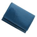 極小財布 エナメル(ブルー)ベーシック型小銭入れ BECKER(ベッカー)ドイツ製