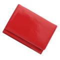 極小財布 エナメル×スムース(コーラルレッド)ベーシック型小銭入れ BECKER(ベッカー)ドイツ製