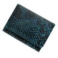 極小財布 ピッグスエード パイソン ブルー×ブラック ベーシック型小銭入れ BECKER(ベッカー)日本製