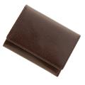 極小財布 バッファローレザー(ブラウン)ベーシック型小銭入れ 水牛革 CAPITO(カピート)日本製
