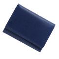 極小財布 バッファローレザー(ネイビー)ベーシック型小銭入れ 水牛革日本製