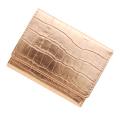 極小財布クロコ型押し メタリックピンク ベーシック型小銭入れ CAPITO(カピート) 日本製