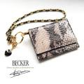 極小財布 ピッグスエードパイソングレーベーシック型小銭入れ BECKER(ベッカー)日本製