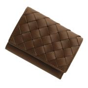 極小財布 メッシュ オイルレザー ブラウン 日本製